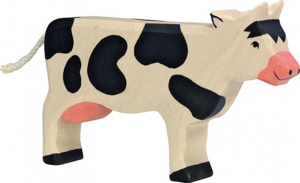 Holztiger Kuh stehend schwarz