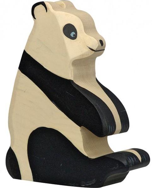 Holztiger Pandabär sitzend