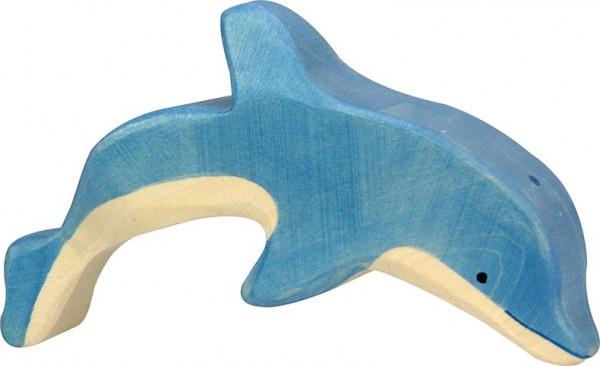 Holztiger Delfin springend