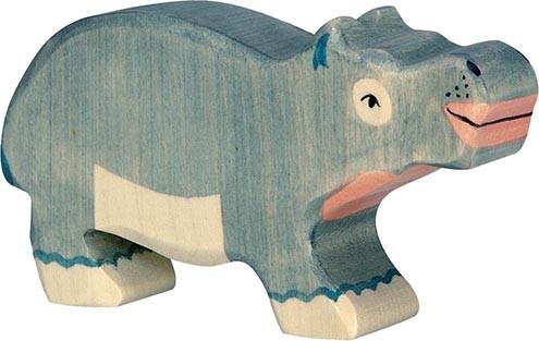 Holztiger Nilpferd klein