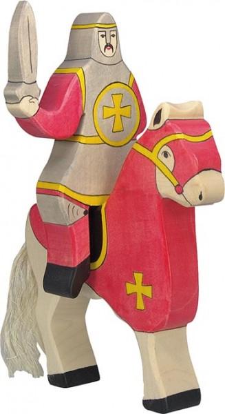Holztiger Roter Ritter reitend (ohne Pferd)