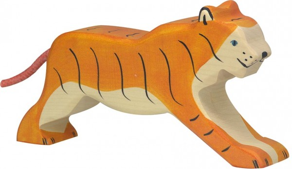 Holztiger Tiger laufend