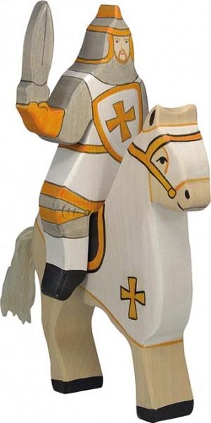 Holztiger Turnierritter weiß (ohne Pferd)