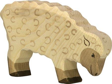 Holztiger Schaf fressend