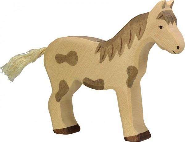 Holztiger Pferd stehend gefleckt