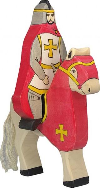 Holztiger Roter Ritter mit Mantel reitend (ohne Pferd)