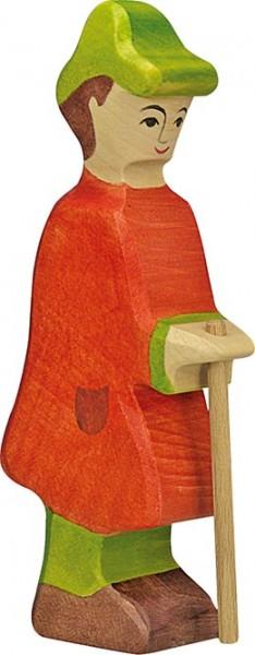 Holztiger Hirte mit Stab
