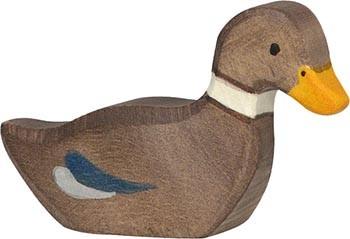 Holztiger Ente schwimmend