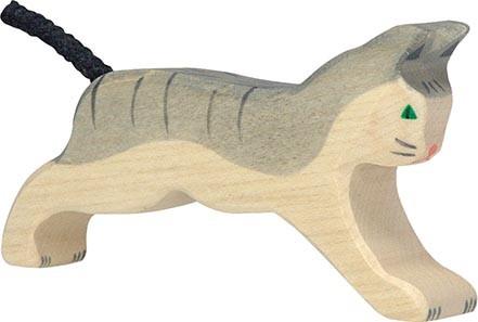 Holztiger Katze laufend