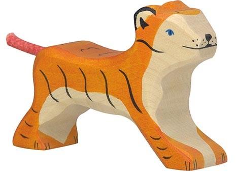 Holztiger Tiger klein laufend
