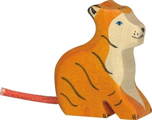 Holztiger Tiger klein sitzend
