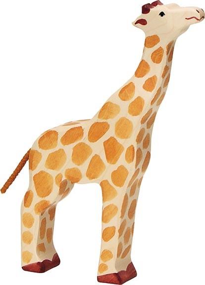 Holztiger Giraffe Kopf hoch