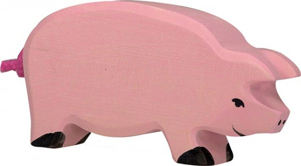 Holztiger Schwein