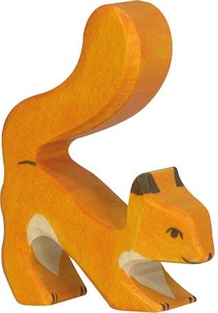 Holztiger Eichhörnchen orange