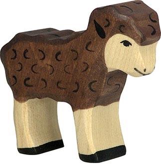 Holztiger Lamm schwarz