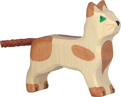 Holztiger Katze stehend klein
