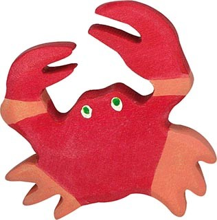 Holztiger Krabbe